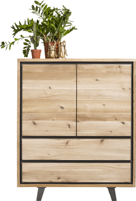 Henders & Hazel - Prato - Industrie - highboard 120 cm - 2-tueren + 2-laden