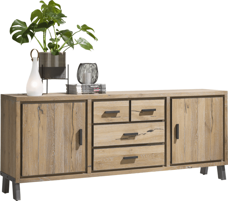 Henders and Hazel - Vitoria - Industrie - sideboard 210 cm - 2-tueren + 3-laden