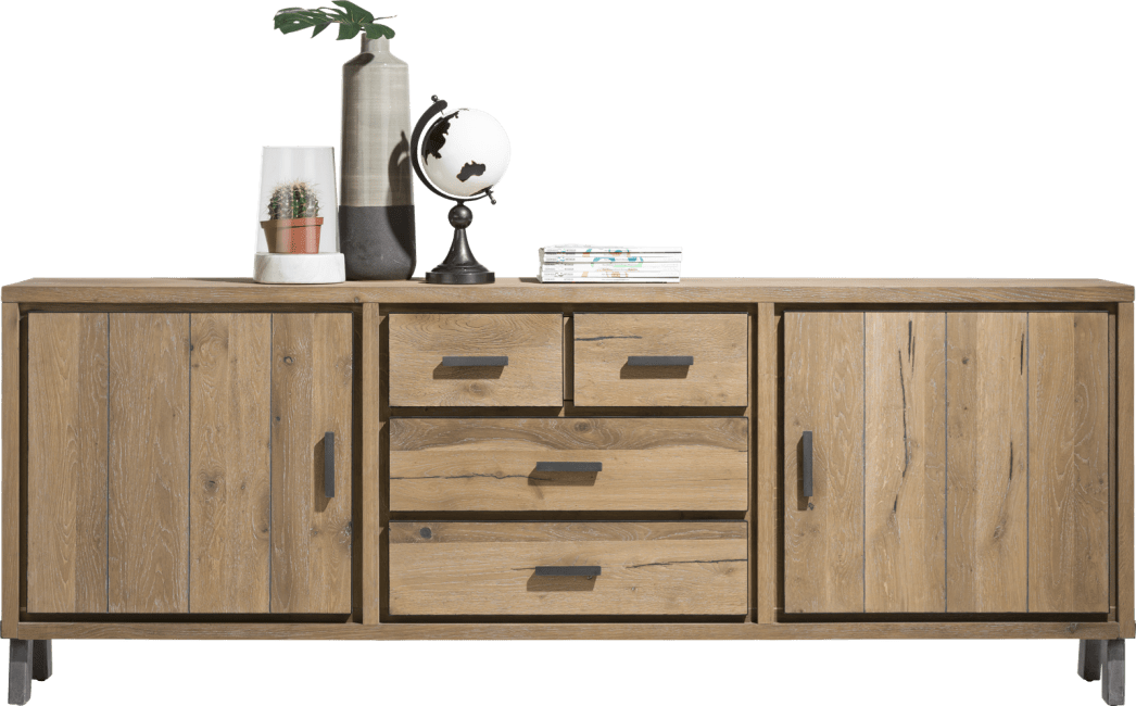Henders and Hazel - Vitoria - Industrie - sideboard 240 cm - 2-tueren + 3-laden