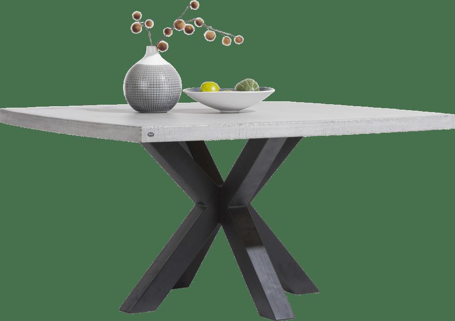 Henders & Hazel - Maestro - Industrie - tisch 130 x 130 cm - beton platte
