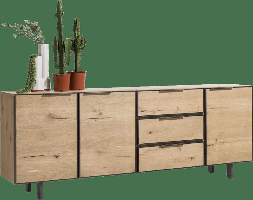 Henders & Hazel - Pedro - Natuerlich - sideboard 240 cm - 3-tueren + 3-laden