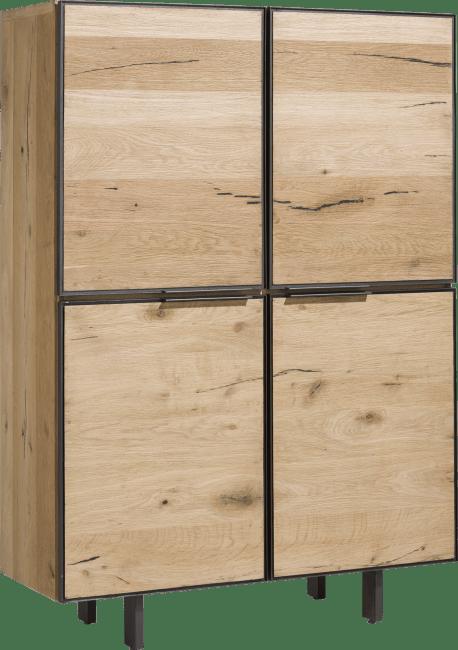 Henders & Hazel - Pedro - Natuerlich - schrank 120 cm - 4-tueren + 2-laden (innen)