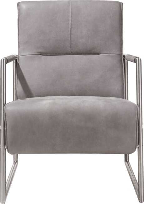 XOOON - Bilto - easy chair with stainless steel armrest