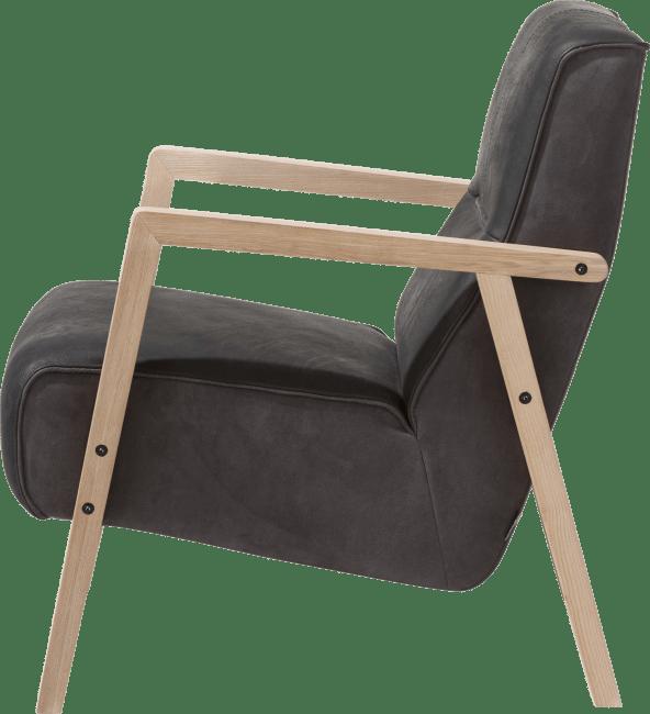 XOOON - Bueno - design Scandinave - fauteuil avec accoudoir en bois vintage clay / white / black