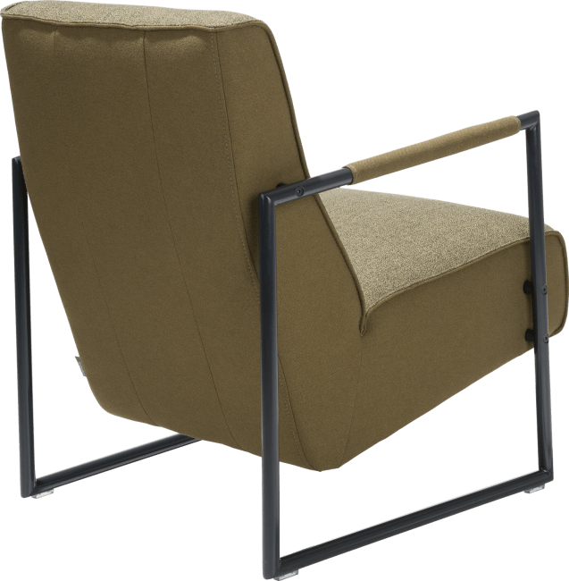 XOOON - Bilto - easy chair with metal off black armrest