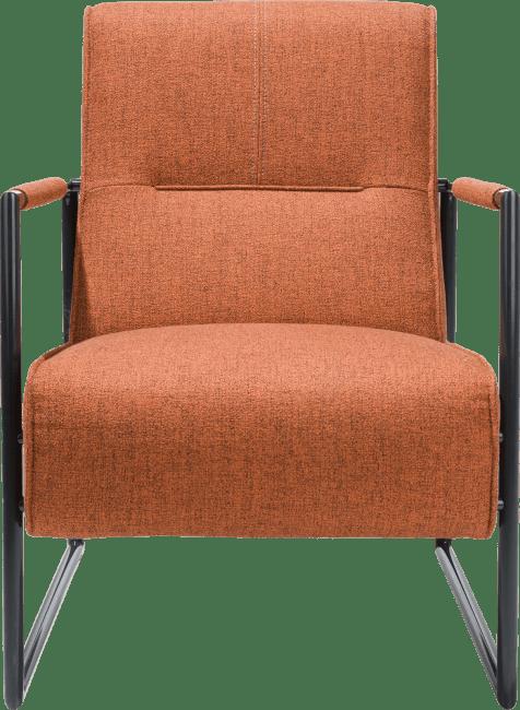 XOOON - Bueno - Scandinavisch design - fauteuil met arm metaal off black