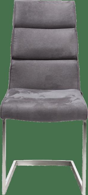 XOOON - Jasmin - Industriel - chaise - pied inox traineau carre avec poignee carre -savannah/kibo