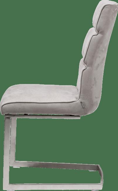 XOOON - Jasmin - Industriel - chaise - inox traineau carre