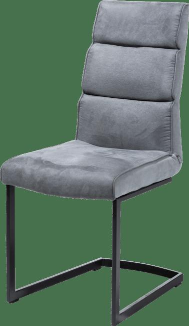 XOOON - Jasmin - Industriel - chaise pied traineau metal noir + poignee noir