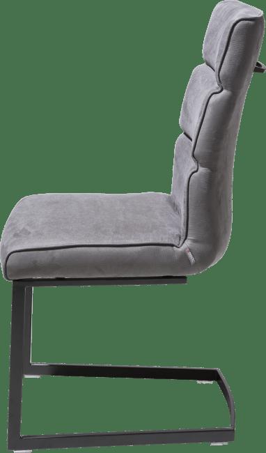 XOOON - Jasmin - Industriel - chaise - pied noir traineau carre avec poignee carre -savannah/kibo