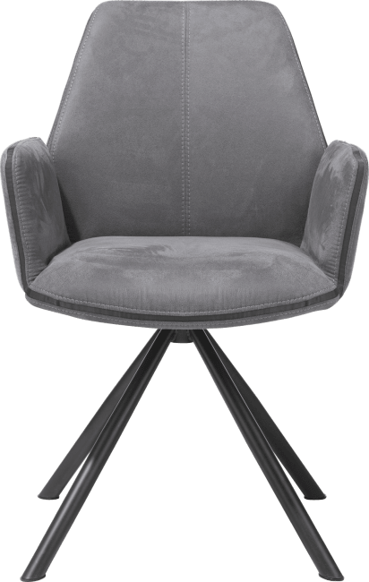 XOOON - Kane - Industrieel - armstoel - poedercoat zwart frame - kibo
