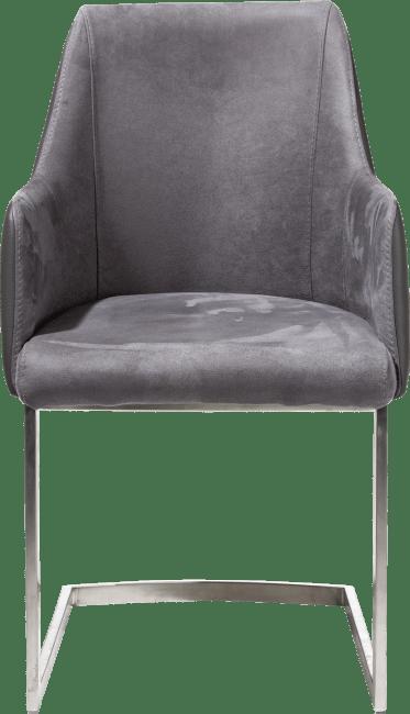 XOOON - Giuliette - Design minimaliste - fauteuil inox - combinaison kibo/tatra