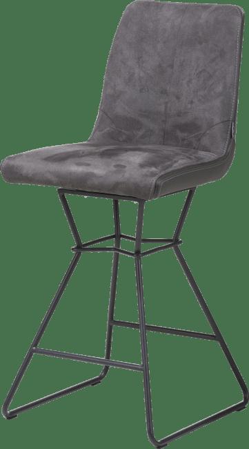 XOOON - Aiden - design Scandinave - chaise de bar - pieds poudres noir - combinaison calabria/tatra