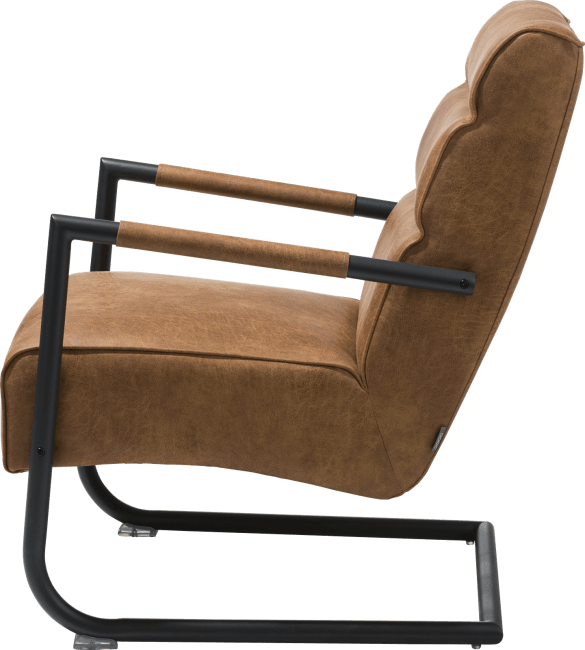 XOOON - Luzern - Design minimaliste - fauteuil - rough off black