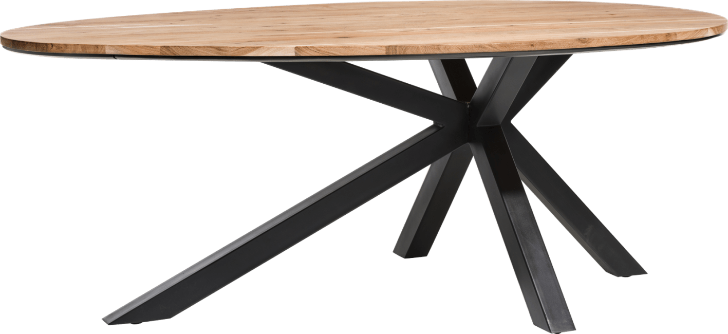 XOOON - Colombo - Industriel - table ovale 200 x 120 cm - kikar massif