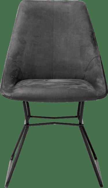 XOOON - Aiden - design Scandinave - chaise - pieds poudres noir - combinaison calabria/tatra