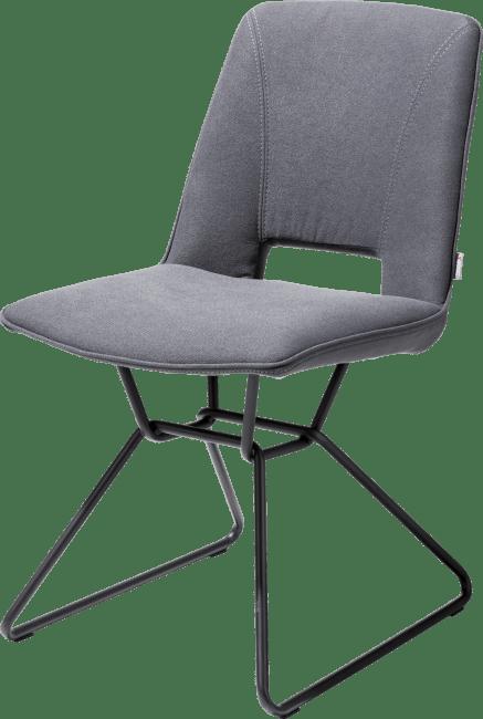 XOOON - Matiz - Design minimaliste - chaise - cadre noir - tissu lana