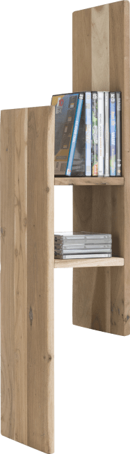 XOOON - Cenon - Industrieel - wandplank 99 cm + 3-niches - hout