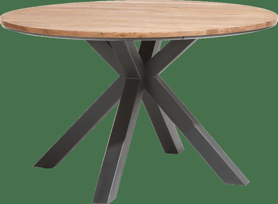 XOOON - Colombo - Industriel - table ronde 130 cm - kikar massif