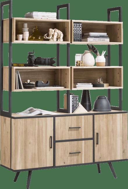 XOOON - Kinna - Skandinavisches Design - bueffet 2-tueren + 3-nischen