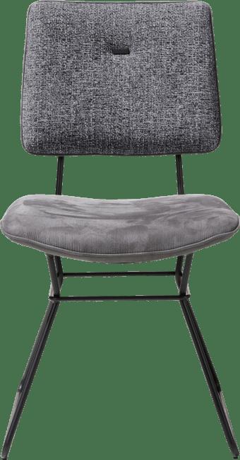 XOOON - Otis - design Scandinave - chaise - cadre noir - combinaison kibo / fantasy