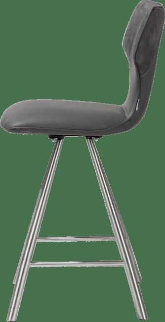 XOOON - Scout - Industriel - chaise de bar - inox - combinaison calabria & tatra