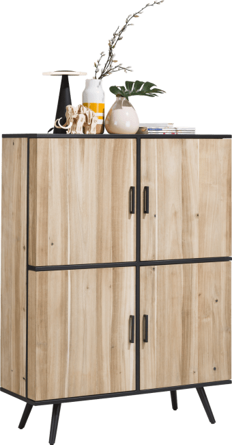 XOOON - Kinna - design Scandinave - armoire 114 cm - 4-portes