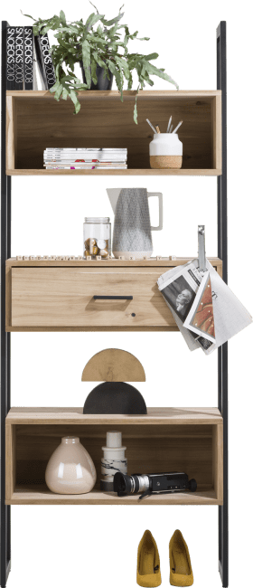 XOOON - Kinna - Scandinavisch design - boekenkast 80 cm - 1-lade + 5-niches