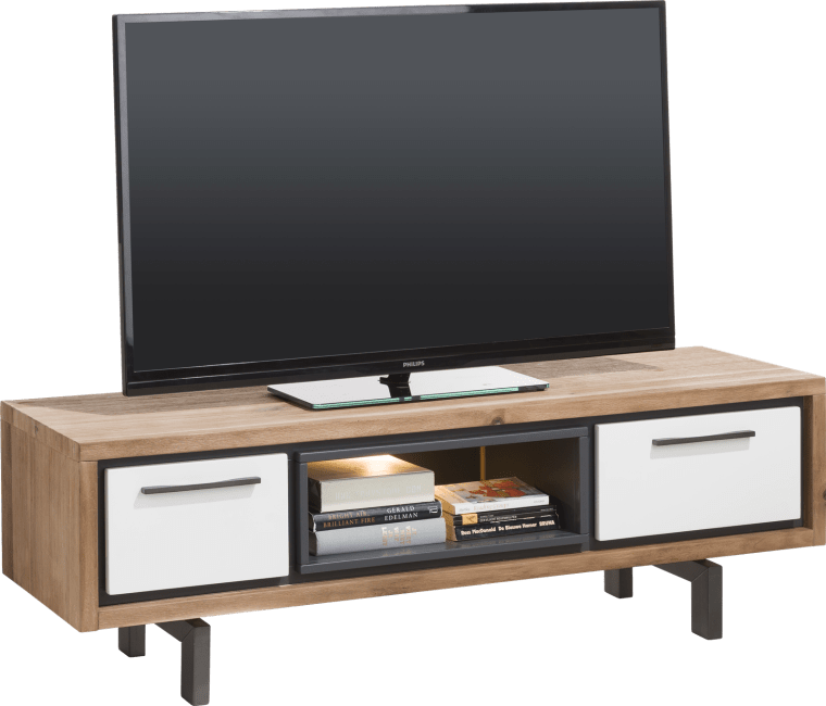 XOOON - Otta - Skandinavisches Design - tv-sideboard 140 cm - 1-lade + 1-klappe + 1-nische (+ led)