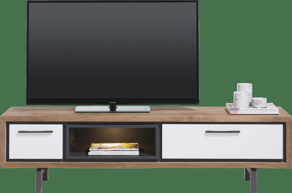 XOOON - Otta - Scandinavisch design - tv-dressoir 170 cm - 1-lade + 1-klep + 1-niche (+ led)