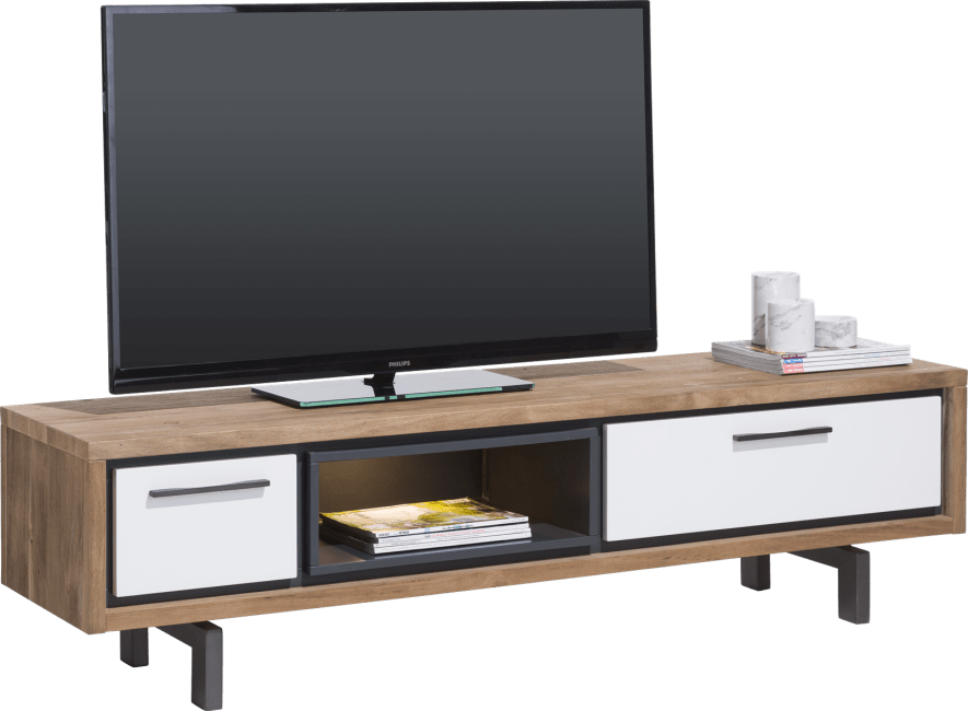 XOOON - Otta - Skandinavisches Design - tv-sideboard 170 cm - 1-lade + 1-klappe + 1-nische (+ led)