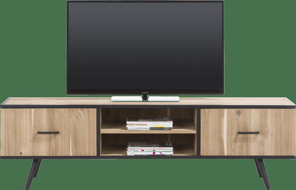 XOOON - Kinna - Scandinavisch design - tv-dressoir 190 cm - 1-deur + 1-lade + 2-niches