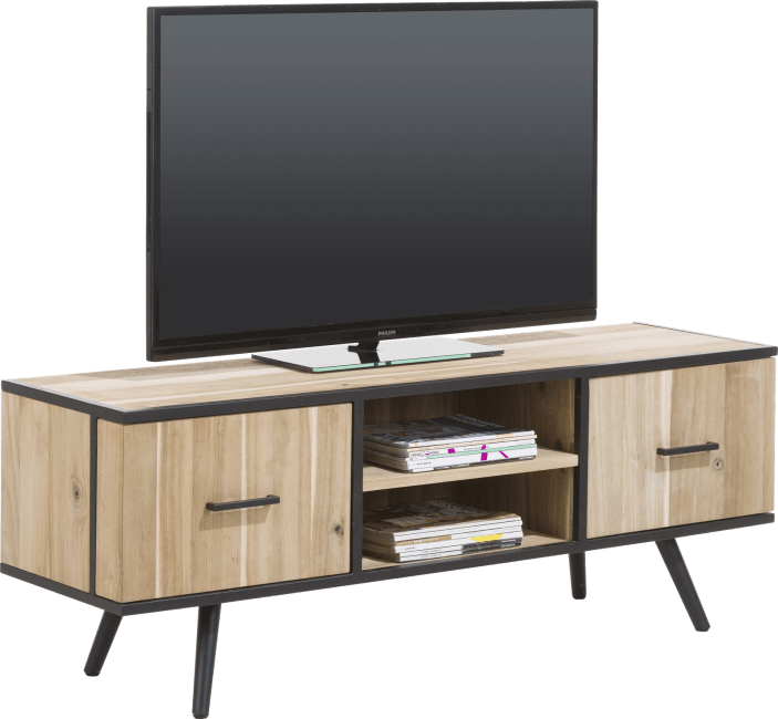 XOOON - Kinna - Scandinavisch design - tv-dressoir 150 cm - 1-deur + 1-lade + 2-niches
