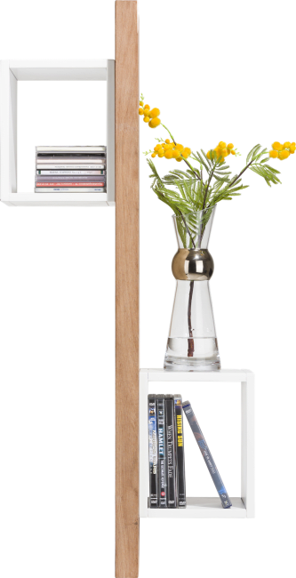 XOOON - Otta - Skandinavisches Design - wandregal 100 cm + 2-nischen - selbstmontage