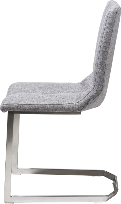 XOOON - Artella - design Scandinave - chaise pied inox traineau carre - lady gris ou mint