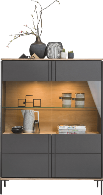 XOOON - Lanai - Industrie - vitrine 110 cm - 2-glastueren (+ led)