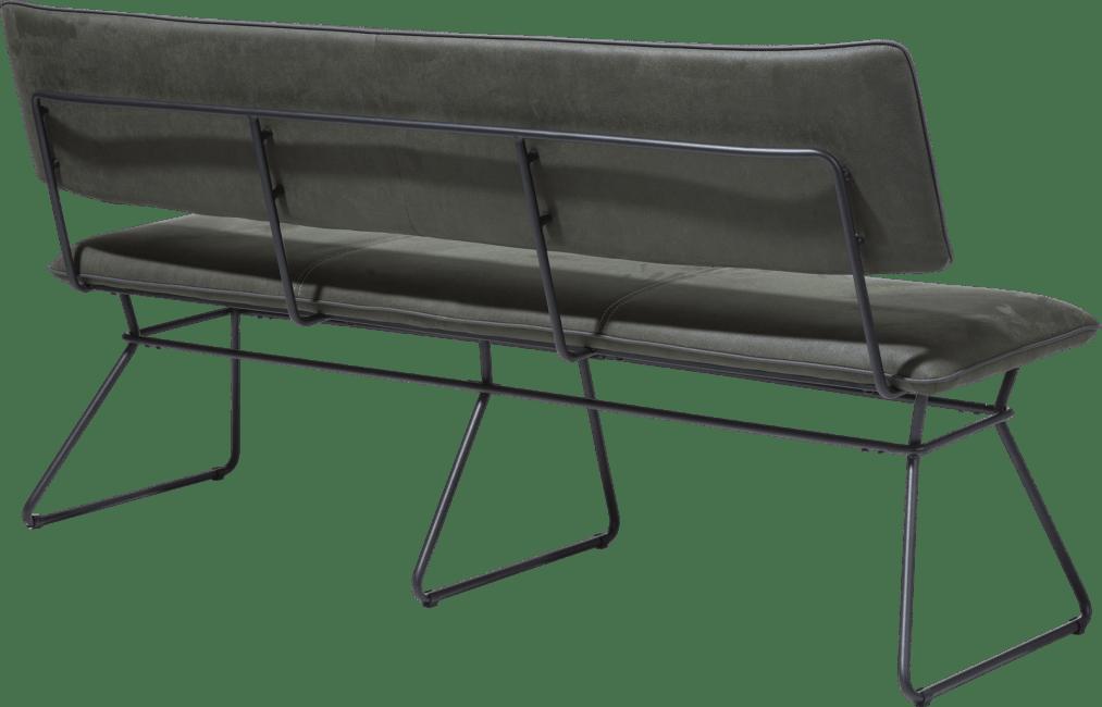 XOOON - Otis - design Scandinave - banquette 160 cm - cadre noir - kibo avec passepoil tatra antracite