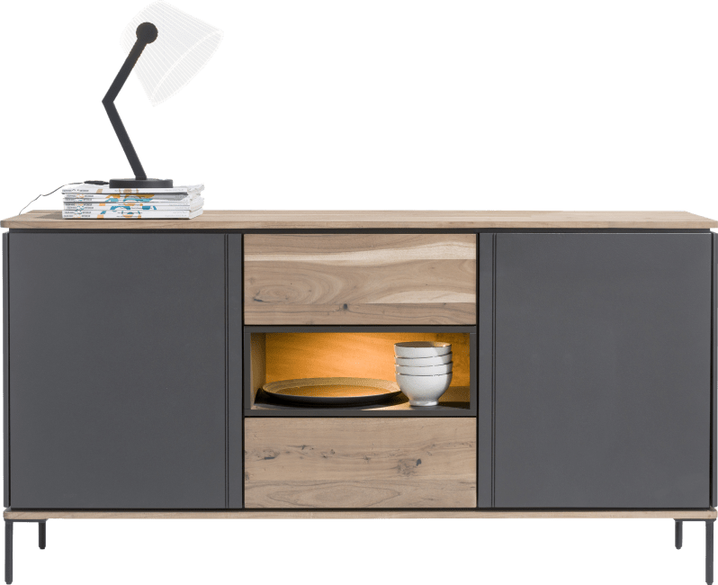 XOOON - Lanai - Industrie - sideboard 190 cm - 2-tueren + 2-laden + 1-nische (+ led)