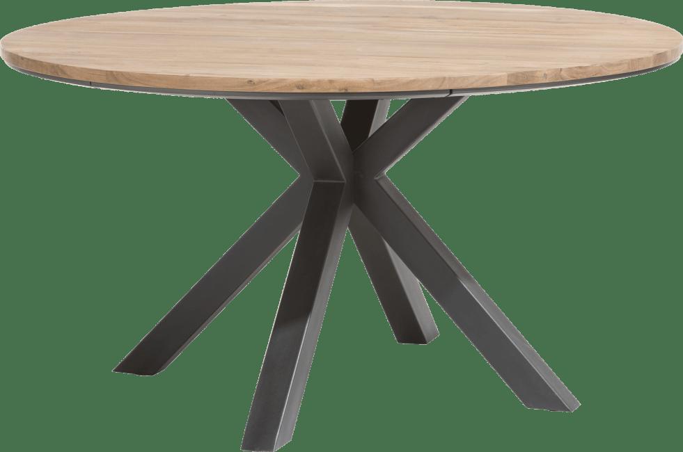 XOOON - Colombo - Industriel - table ronde 150 cm chene massif + mdf