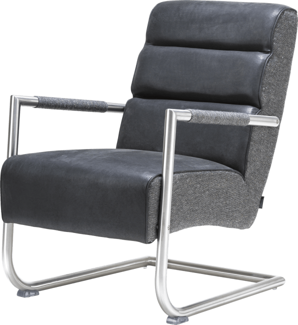 XOOON - Natal - Minimalistic design - easy chair - stainless steel