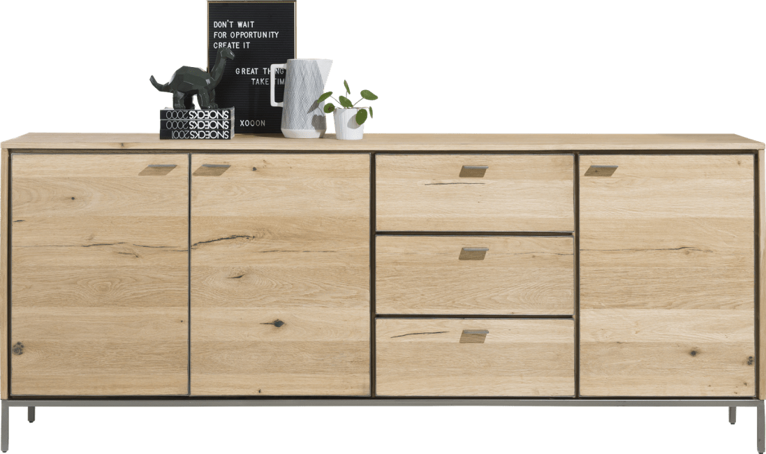 XOOON - Faneur - Skandinavisches Design - sideboard 210 cm - 3-tueren + 3-laden