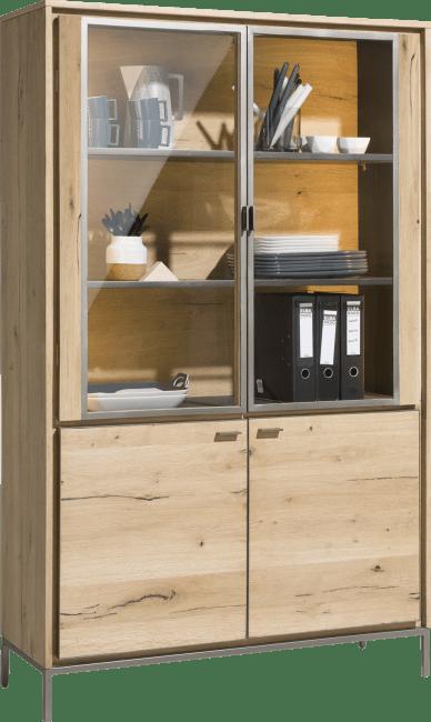 XOOON - Faneur - Skandinavisches Design - vintrine 110 cm - 2-glastueren + 2-tueren (+ led)