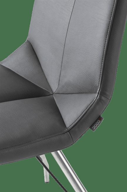 XOOON - Arto - design Scandinave - chaise inox pietement eiffel