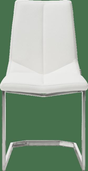 XOOON - Arto - design Scandinave - chaise inox traineau carre