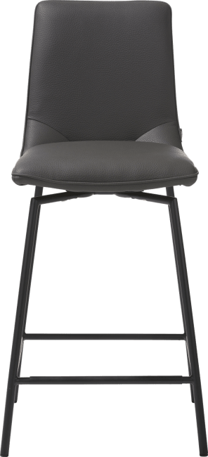 XOOON - Davy - Minimalistic design - barchair - black + tatra taupe & antracite