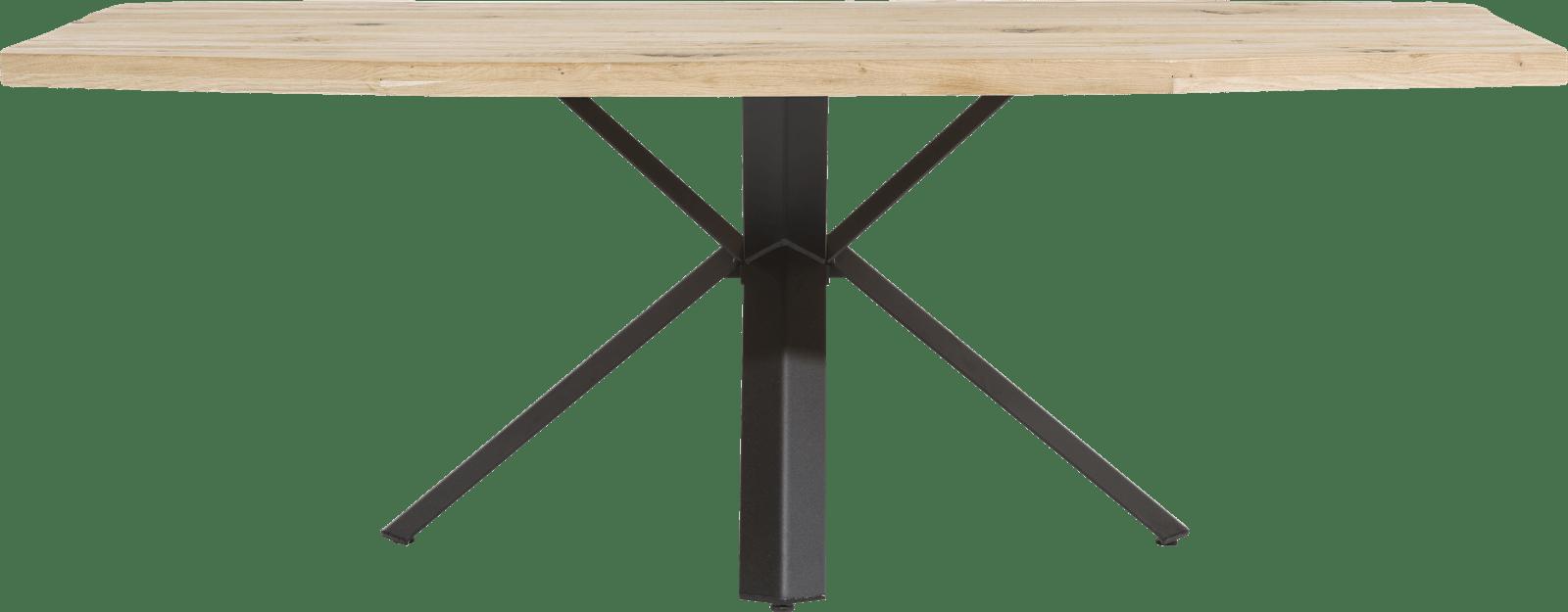 XOOON - Maddox - Industrieel - eetkamertafel 220 x 100 cm - hout - sterpoot