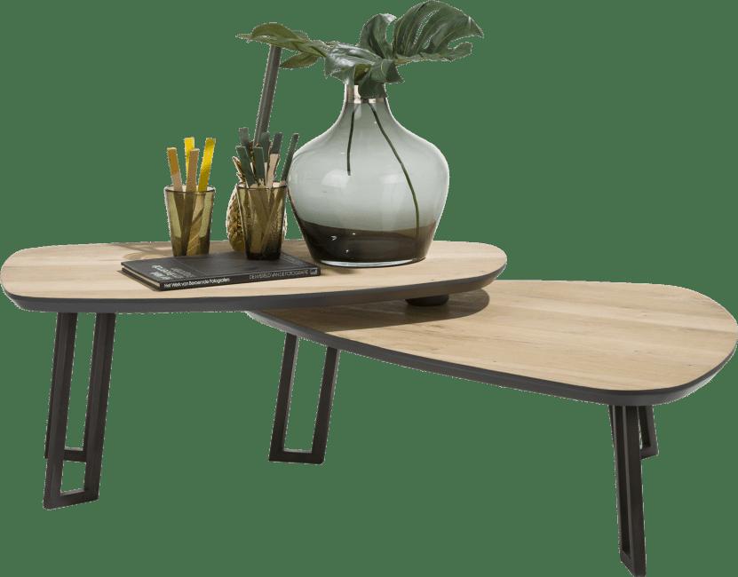 XOOON - Darwin - Minimalistisch design - salontafel 110 x 80 cm met bewegend deel