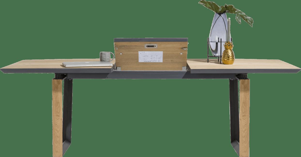 XOOON - Darwin - Design minimaliste - table a rallonge 190 (+ 60) x 100 cm