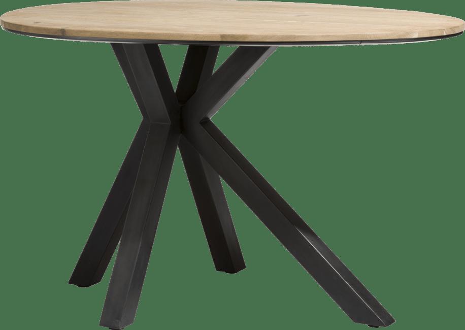 XOOON - Colombo - Industrieel - bartafel ovaal 150 x 110 cm - massief eiken + mdf