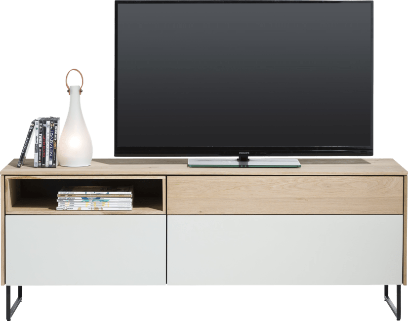 XOOON - Darwin - Minimalistic design - lowboard 3-drawers + 1-niche - 160 cm (+ led)
